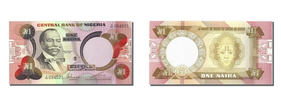 World Coins - Nigeria, 1 Naira, KM #19c, UNC(65-70), D/80 094021