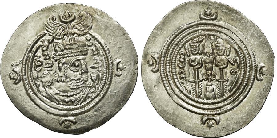 Ancient Coins - Coin, Sasanian Kings, Khusrau II, Drachm, Darabgird, , Silver