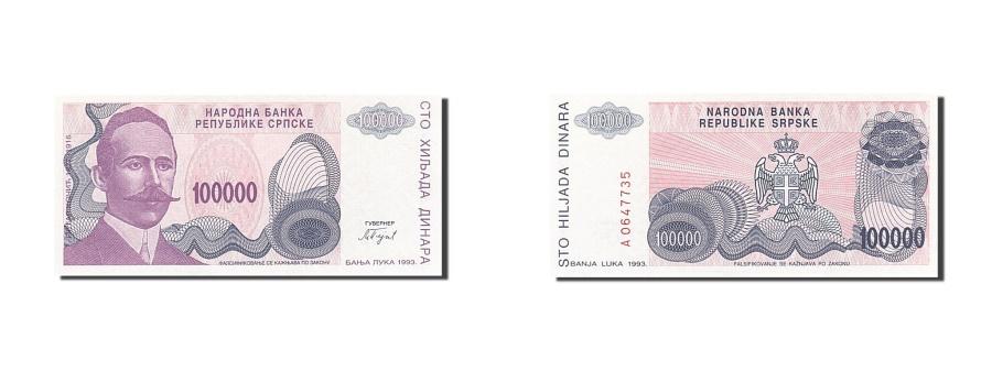 World Coins - Bosnia - Herzegovina, 100,000 Dinara, 1993, 1993, KM:151a, UNC(65-70)