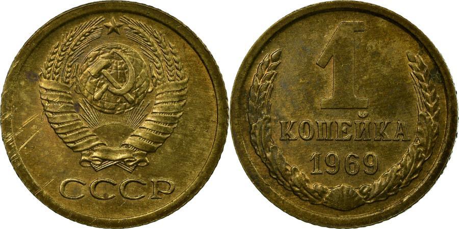 World Coins - Coin, Russia, Kopek, 1969, Saint-Petersburg, , Brass, KM:126a