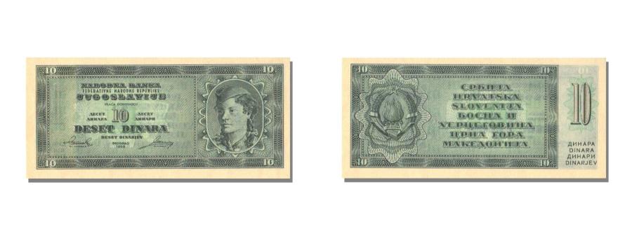 World Coins - Yugoslavia, 10 Dinara, 1950, KM #67Sa, UNC(65-70)