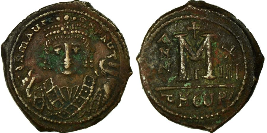 Ancient Coins - Coin, Maurice Tiberius, Follis, 596-597, Antioch, , Copper, Sear:533