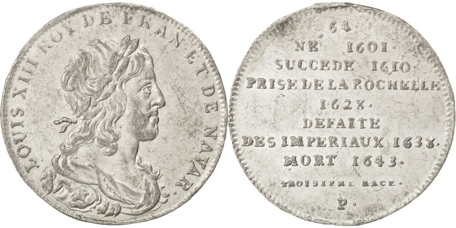 World Coins - FRANCE, History, Louis XIII, Medal, , Tin, 32, 8.87