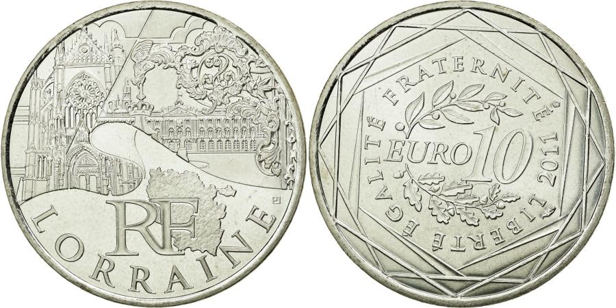 World Coins - Coin, France, 10 Euro, 2011, MS(63), Silver, KM:1743