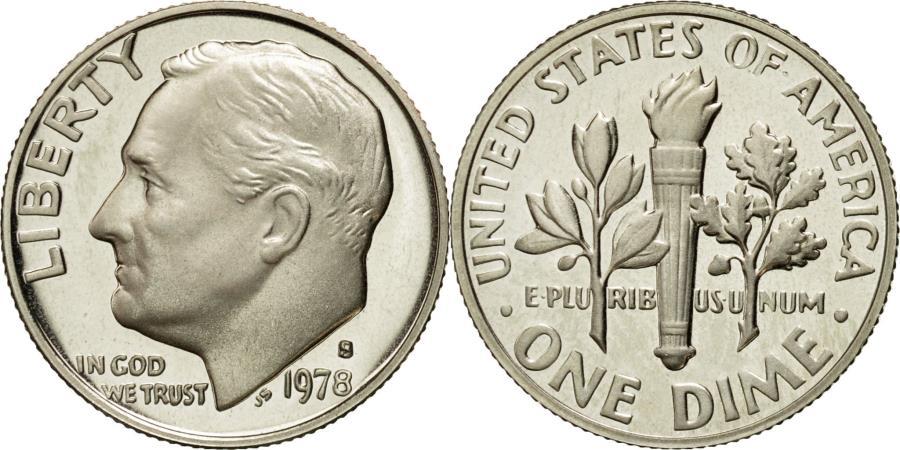 US Coins - Coin, United States, Roosevelt Dime, Dime, 1978, U.S. Mint, San Francisco