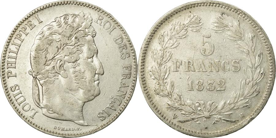 World Coins - Coin, France, Louis-Philippe, 5 Francs, 1832, La Rochelle, , Silver
