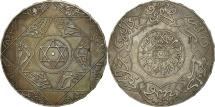 Morocco, 'Abd al-Aziz, 5 Dirhams, 1898, Paris, AU(50-53), Silver, KM:12.2