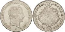 Austria, Ferdinand I, 20 Kreuzer, 1848, MS(60-62), Silver, KM:2208
