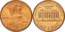 Us Coins - United States, Lincoln Cent, Cent, 2003, U.S. Mint, Denver, MS(65-70), Copper