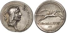 Calpurnia, Denarius, Rome, AU(50-53), Silver, Crawford:408/1a