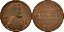 Us Coins - United States, Lincoln Cent, Cent, 1966, U.S. Mint, Philadelphia, EF(40-45)