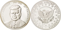 Us Coins - United States, Medal, John F.Kennedy, MS(65-70), Copper Plated Silver