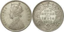 World Coins - Coin, British India, Victoria, Rupee, 1875, Bombay, AU(55-58), Silver, KM 473.2