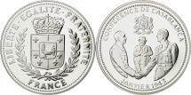 World Coins - France, Medal, Conférence de Casablanca, MS(65-70), Silver