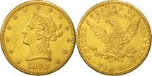 Us Coins - United States, Coronet Head, $10, 1903, San Francisco, MS(60-62), Gold, KM:102