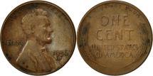 Us Coins - United States, Lincoln Cent, Cent, 1956, U.S. Mint, Denver, EF(40-45), Brass