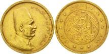 Egypt, Fuad I, 100 Piastres, 1922, British Royal Mint, EF(40-45), Gold, KM:341