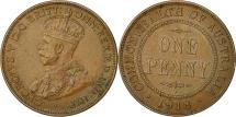 World Coins - Coin, Australia, George V, Penny, 1918, Calcutta, AU(55-58), Bronze, KM 23