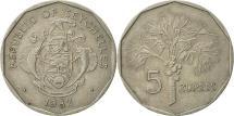 World Coins - Seychelles, 5 Rupees, 1982, British Royal Mint, EF(40-45), Copper-nickel