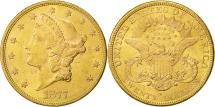Us Coins - United States, Liberty Head, $20, 1877, San Francisco, AU(50-53),KM 74.3