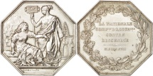 World Coins - France, Token, Insurance, La Nationale, 1817, Barre, AU(50-53), Silver
