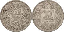 Morocco, Mohammed V, 10 Francs, 1946, Paris, AU(50-53), Copper-nickel, KM:44