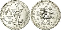 World Coins - Coin, West African States, 5000 Francs, 1982, , Silver, KM:11