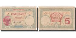 Ancient Coins - Banknote, French Somaliland, 5 Francs, KM:6b, VF(30-35)