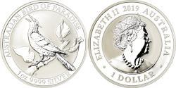 World Coins - Coin, Australia, Oiseau du Paradis, Dollar, 2019, Royal Australian Mint, Proof