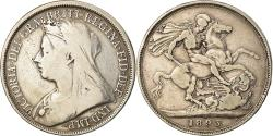 World Coins - Coin, Great Britain, Victoria, Crown, 1893, , Silver, KM:783