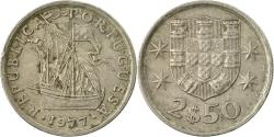 World Coins - Coin, Portugal, 2-1/2 Escudos, 1977, , Copper-nickel, KM:590