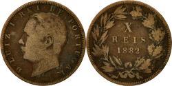 World Coins - Portugal, Luiz I, 10 Reis, 1882, , Bronze, KM:526