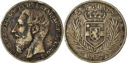 World Coins - Coin, CONGO FREE STATE, Leopold II, 2 Francs, 1887, , Silver, KM:7