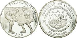 World Coins - Coin, Liberia, Basket-Ball, 20 Dollars, 2000, Proof, ,  Silver, KM:488