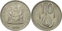 World Coins - Coin, South Africa, 10 Cents, 1971, , Nickel, KM:85