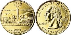 Us Coins - Coin, United States, Utah, Quarter, 2007, U.S. Mint, Denver, golden,