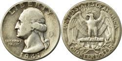 Us Coins - Coin, United States, Washington Quarter, Quarter, 1941, U.S. Mint, Philadelphia