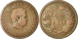 World Coins - Coin, Portugal, Carlos I, 10 Reis, 1892, Portugal Mint, VF(20-25), Bronze