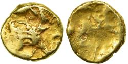 Coin, Carnutes, 1/4 Stater, F(12-15), Gold, Delestrée:manque.