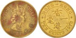 World Coins - HONG KONG, 10 Cents, 1978, KM #28.3, , Nickel-Brass, 20.5, 4.45