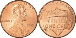 Us Coins - Coin, United States, Cent, 2013, Philadelphia, , Copper Plated Zinc
