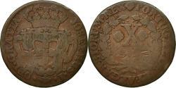 World Coins - Coin, Portugal, Jo, 10 Reis, X; 1/2 Vinten, , Copper, KM:227