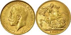 World Coins - Coin, Australia, George V, Sovereign, 1911, Perth, PCGS, AU55, , Gold