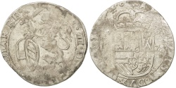World Coins - SPANISH NETHERLANDS, Escalin, 1628, Maastricht, KM #52.2, VF(20-25), Silver,...