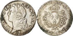 World Coins - Coin, France, Louis XV, Écu de Béarn au bandeau, Ecu, 1748, Pau, Rare