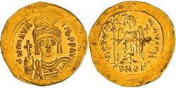 Coin, Maurice Tiberius, Solidus, 583-602, Constantinople, AU(50-53), Gold