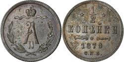 World Coins - Coin, Russia, Alexander II, 1/2 Kopek, 1879, Saint-Petersburg, , Copper