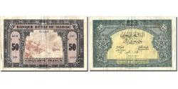 World Coins - Banknote, Morocco, 50 Francs, 1944, 1944-03-01, KM:26a, VF(30-35)