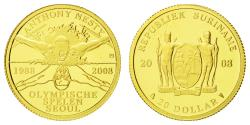 World Coins - Coin, Surinam, $20, 2008, , Gold, KM:65
