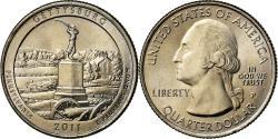Us Coins - Coin, United States, Gettysburg, Quarter, 2011, U.S. Mint, Philadelphia